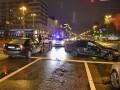 В Киеве на Бессарабке Mercedes спровоцировал тройную аварию
