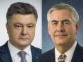 Порошенко и Тиллерсон скоординировали позиции по миротворцам на Донбассе