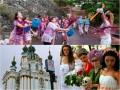 День в фото: Битва вина, парад невест и пешеходный Андреевский спуск