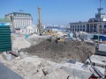 Соцсети: В Киеве засыпали землей древнюю улицу, найденную на Почтовой площади