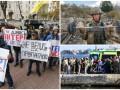День в фото: протест в Киеве, упражнения военнослужащего и крушение судна с мигрантами