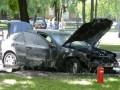 В Кременчуге неизвестные сожгли автомобиль экс-главы местного УБОПа