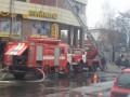 Из-за пожара в ночном клубе Одессы образовалась пробка на дороге