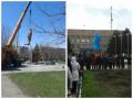 Сепаратисты восстановили памятник Ленину в Новоазовске