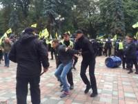 Столкновения под Радой: полиция задержала одного человека