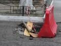 Говорящую яму в центре Киева до сих пор не отремонтировали (ФОТО)