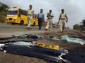 В Индии автобус столкнулся с автоцистерной