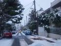 Афины засыпало снегом