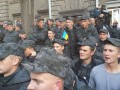В Киеве протестуют срочники Нацгвардии (видео)
