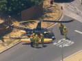 В Лос-Анджелесе вертолет упал посреди улицы