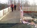 На мосту в Станице Луганской открыли временный обходной переход