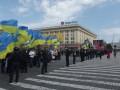 Возле Харьковского облсовета пикетируют сторонники федерализации и единой Украины