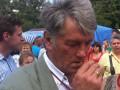 Ющенко удивил публику неопрятным видом (ФОТО)