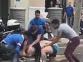 Избиение туриста в Барселоне попало на видео
