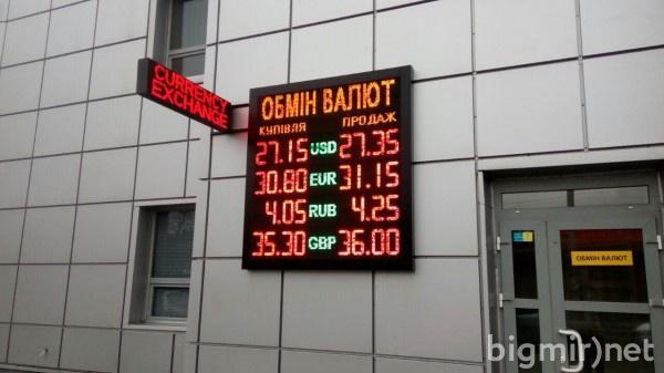 В обменниках доллар в среднем можно купить по 27,35 грн утром 21 марта