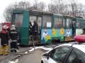 В Конотопе трамвай загорелся прямо во время движения