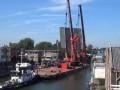 Два подъемных крана рухнули на жилые дома в Нидерландах