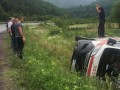 На Закарпатье перевернулась карета скорой с инфарктником