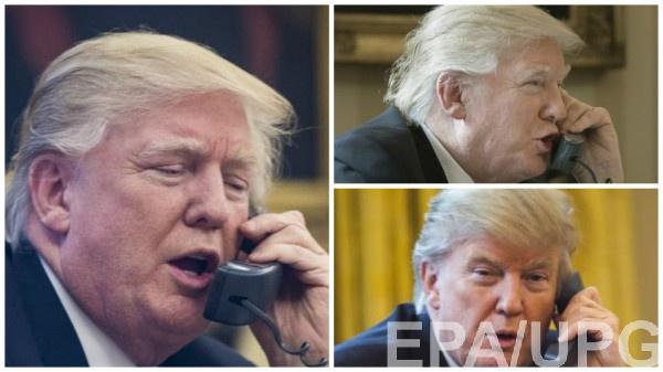 Эмоции Трампа при разговоре с главами государств