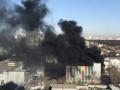 В Киеве пожар охватил бизнес-центр