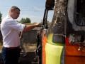 В Киеве сожгли эвакуатор для демонтажа киосков