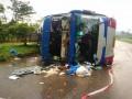 В Таиланде перевернулся двухэтажный автобус с туристами
