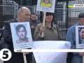 Под посольством РФ в Киеве активисты требовали освободить из тюрем крымчан