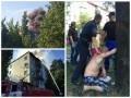 Большой пожар на Дарнице: задержали человека, грабившего квартиры в горящем доме