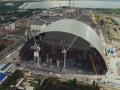 Строительство Чернобыльской арки сняли с беспилотника