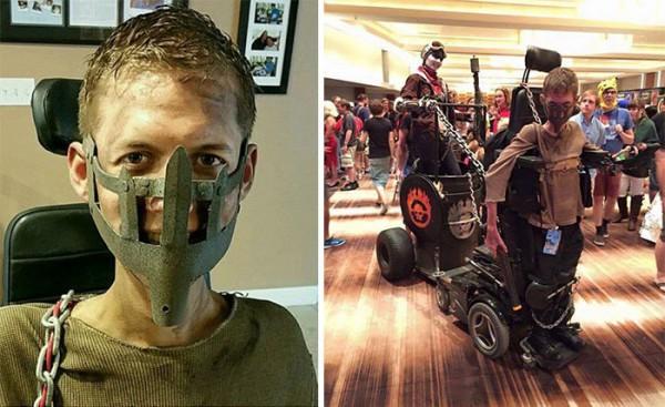 Парень сделал из своей инвалидной коляски агрегат Безумного Макса