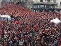 Митинг в Праге: чехи показали президенту красную карточку