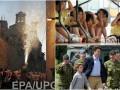 День в фото: премьер Канады во Львове, горящий бык в Испании и дети во время землетрясения