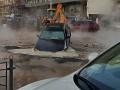 В Киеве улицу Саксаганского залило кипятком