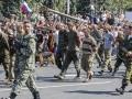 Боевики планируют провести постановочный парад военнопленных