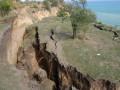 Под Одессой сошел километровый оползень