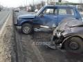 В Киеве перед  Московским мостом в ДТП попали 4 авто и троллейбус