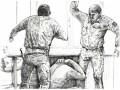 Донецкий художник показал в картинках свое пребывание в плену ДНР