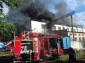Во Львове произошел крупный пожар в локомотивном депо