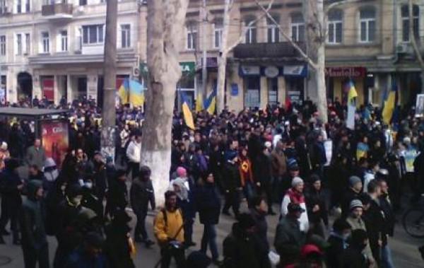 В Одессе протестуют против действий России