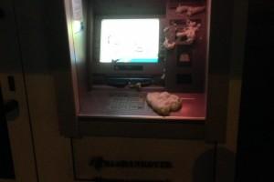 Неизвестные вывели из строя банкоматы российских банков по всей Украине