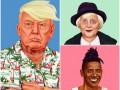 Израильский художник сделал мировым политикам пирсинг и надел дреды
