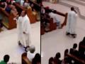 Священник катался на ховерборде во время мессы