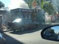 В Киеве возле Дворца Украина горят МАФы