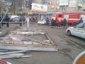 В Черкассах упавший рекламный щит травмировал семь человек