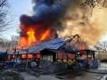 В Киеве мощный пожар уничтожил кафе: Подробности
