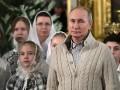 Путин пришел на рождественскую службу в кардигане за 3000 долларов