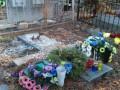 В Киеве на Байковом кладбище с могилы писателя похитили памятник