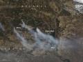 В NASA показали пожар в зоне ЧАЭС из космоса