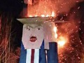 Вандал поджег деревянную статую Трампа