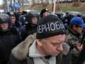 Голодающим в Киеве чернобыльцам запретили разворачивать флаг Украины